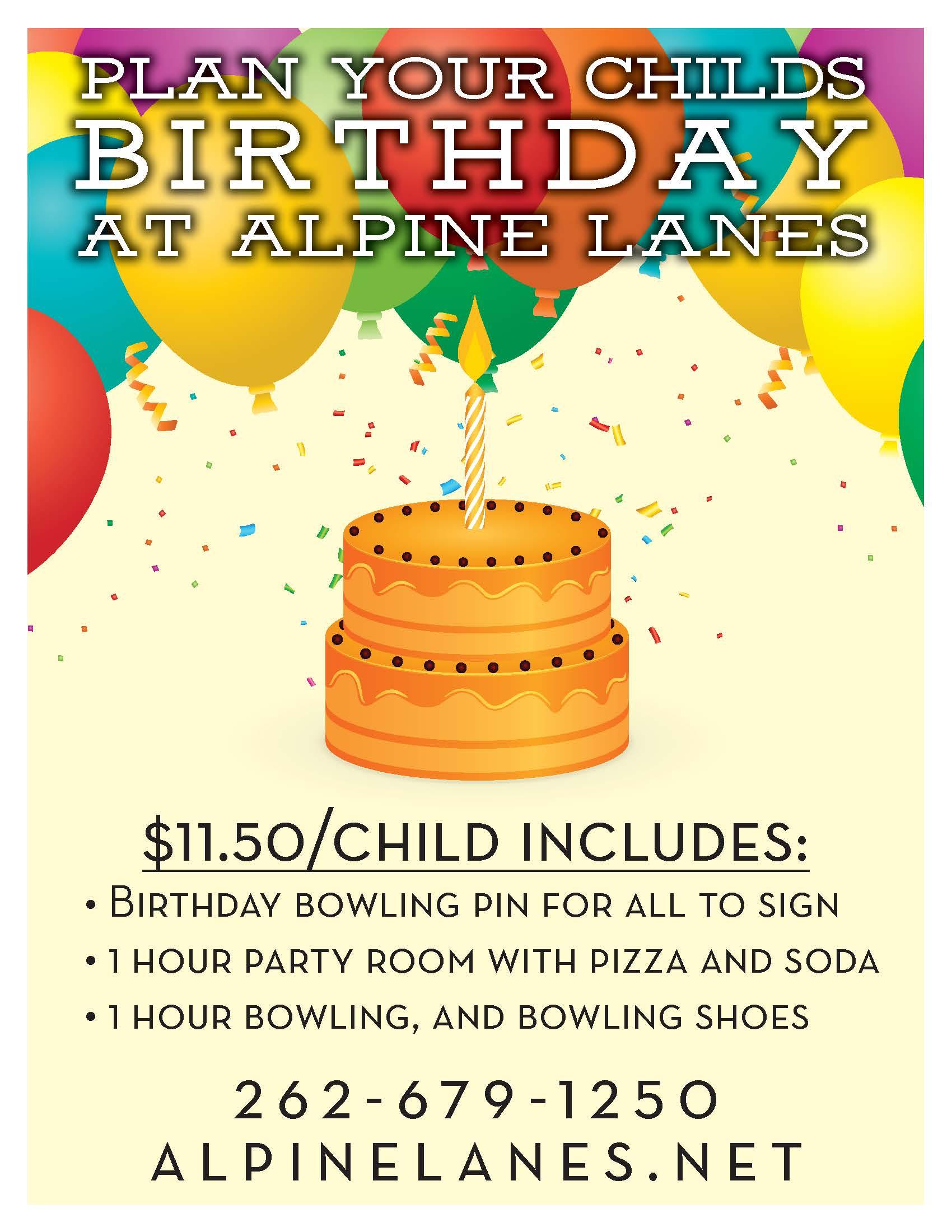 Kids Birthday Party Ideas | Birthday Parties | Alpine Lanes